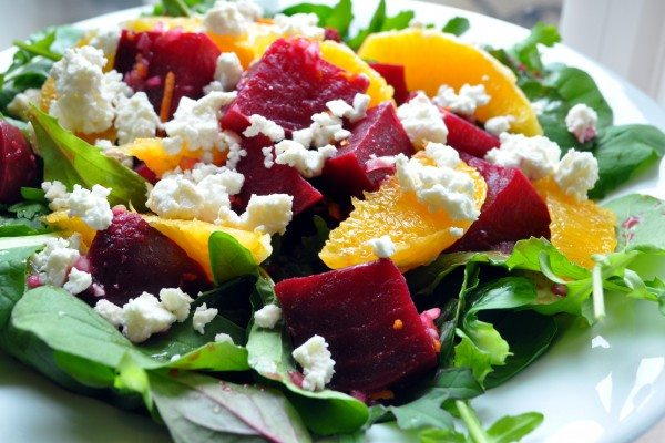Roasted Beets with Oranges and Goat Cheese