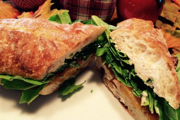Butternut Squash Sandwich with Goat Cheese and Apples