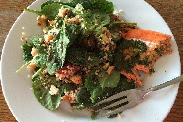 Spinach Salad with Quinoa and Feta