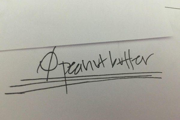 Peanut Butter Intervention