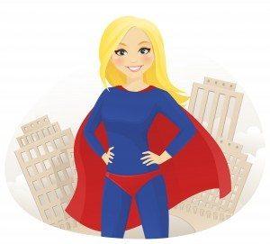 Superwoman in city